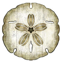 Vintage Beach Signs - Sand Dollar Cutout