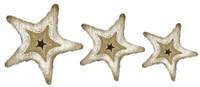Rustic Starfish Cutout - Set of Three