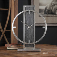 Uttermost Nico Modern Desk Clock