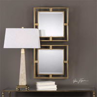 Uttermost Allick Gold Square Mirrors S/2