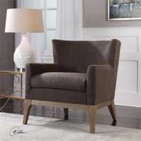 Uttermost Arzo Dark Gray Armchair