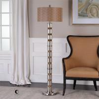 Uttermost Cerreto Mercury Glass Floor Lamp