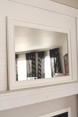 White Poplar Mirror - 24X36 Pictured