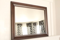 Walnut Poplar Mirror - 24X36 Pictured