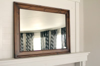 Espresso Knotty Alder Mirror - 24X36 Pictured