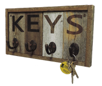 wall key holder rustic reclaimed wood - My Barnwood Frames