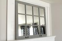 FARMHOUSE MIRROR- 12 WINDOW PANE MIRROR- GRAY