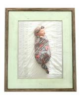 8x8 Sea Foam Green Barnwood Picture Frame, Rustic Wood