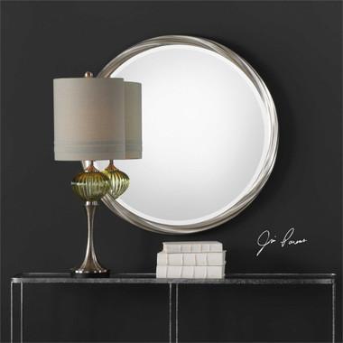 Uttermost Orion Silver Round Mirror