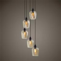 Uttermost Aarush 5 Light Glass Cluster Pendant