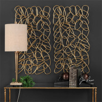 Uttermost In The Loop Gold Wall Art S/2