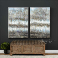 Uttermost Gray Reflections Landscape Art S/2