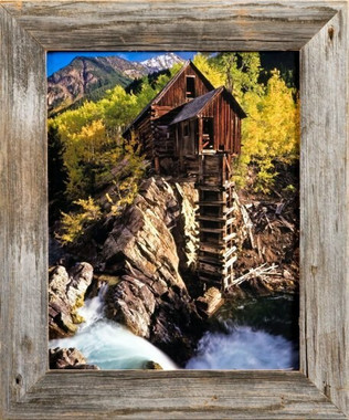 Barnwood Picture Frame | 16x24 Reclaimed Wood Photo Frame