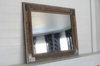 Rustic Bathroom Mirror - Modern Farmhouse Mirror - Ranch Hand Mirror