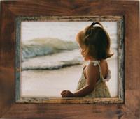 12x18 Rustic Wood Frame Corner Detail - Myrtle Beach Style Alder and Barnwood Frame