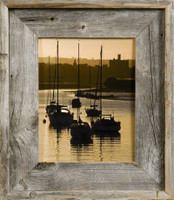 12x18 Barnwood Frame, Medium Width 2.75 inch Lighthouse Series