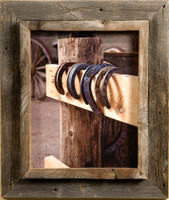 12x16 Western Picture Frame - Western Rustic Narrow Width 2.25 inch