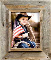 8x12 Cowboy Picture Frame, Medium Width 3 inch Western Rustic Series