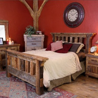 Black Mountain Reclaimed Wood Barnwood Bed