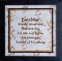 Every Father Should Remember... Framed Quotation Rustic Sign