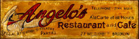 Vintage Kitchen Signs - Angelo's Restaurant and Cafe Rustic sign