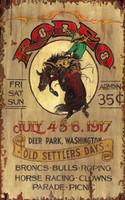 Rustic Western Signs - Rodeo - Vintage Cowboy Signs