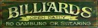 Vintage Signs - billiards