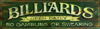 Vintage Signs - billiards