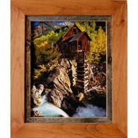 Rustic Frames-11x14 Alder Wood & Barnwood Frame - Sagebrush Series