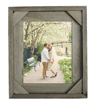Corner Photo Frames barn wood frame | rustic recycled wood frame 24x36