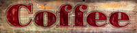 Rustic Vintage Sign - Coffee Restaurant sign