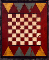 Retro Vintage Game Board Sign - 64 Checkered Squares