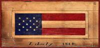 Vintage USA Flag Sign