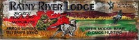 Vintage Hunting Signs - Rainy River Lodge Rustic Sign