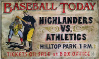 Vintage Signs - Baseball today primitive sports sign