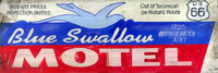 Retro Vintage Signs - Blue Swallow Motel Nostalgic Sign