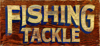 Vintage Signs - Fishing Tackle