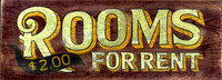 Rooms for Rent Vintage Sign - Nostalgic Hotel Signs