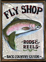 Vintage Fly Shop Sign - Rods and Reels