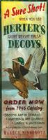Vintage Sign - Herter's Duck Hunting Decoy