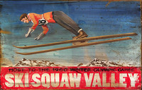 Retro Vintage Ski Signs - Squaw Valley Olympics Sign