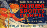 Nostalgic Ski Signs - Rustic Winter Carnival Sign