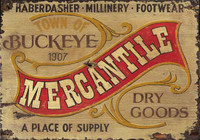 Rustic Vintage Sign - Nostalgic Mercantile Wooden Distressed Signs