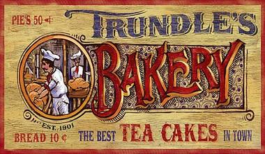 Nostalgic Vintage Bakery Signs Primitive Kitchen D 233 Cor