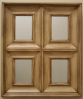 Window Pane Decorative Mirror - 22x26 Wood Mirror with Antiquing