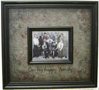 One Big Happy Family - Framed Text with Photograph Opening