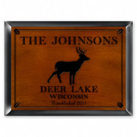 Personalized Wood Cabin Signs - Deer Sign