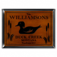 Personalized Wood Cabin Signs - Duck Sign