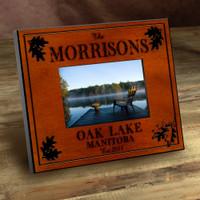 Personalized Wood Picture Frames - Oak Leaf Motif