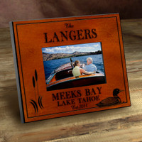Personalized Wood Picture Frames - Loon Lake Motif